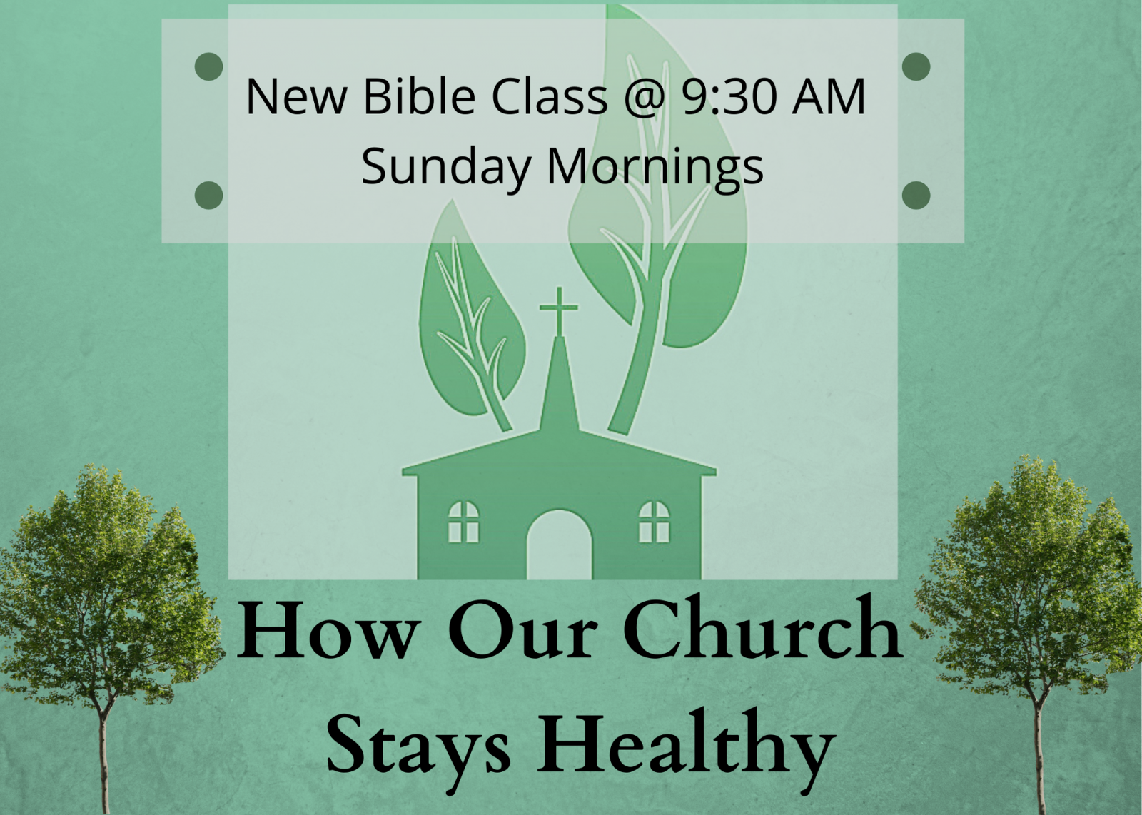 How Our Church Stays Healthy